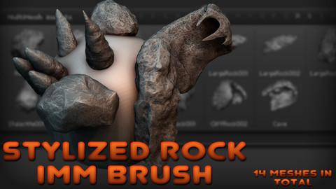Stylized Rock IMM Brush