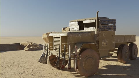 Post Apocalyptic Military Truck