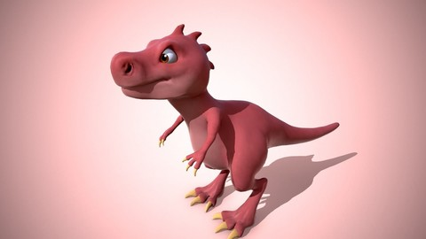 Cartoon red dino