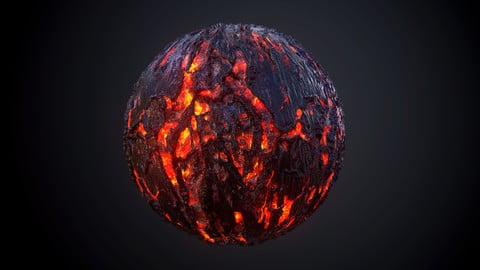 Lava Rock Ground Environment Fantasy Sci-Fi Stone Flow Liquid Seamless Texture