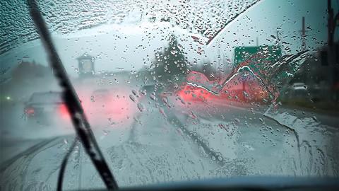 Animated wipers rain map