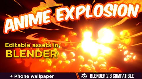Anime explosion in Blender
