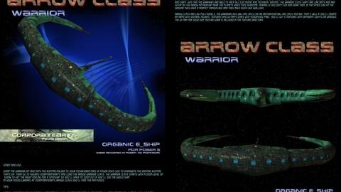 ARROWCLASS Warrior spaceship (Poser / DAZ Studio rig)