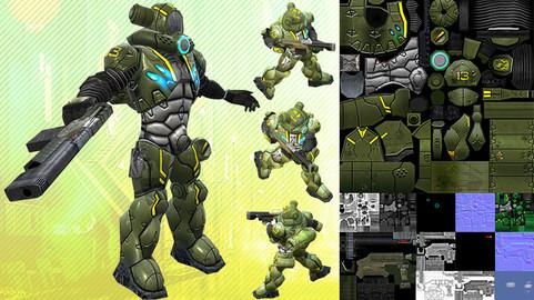 Sci-Fi Human Trooper