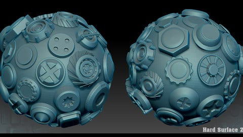Hard Surface Zbrush Alphas