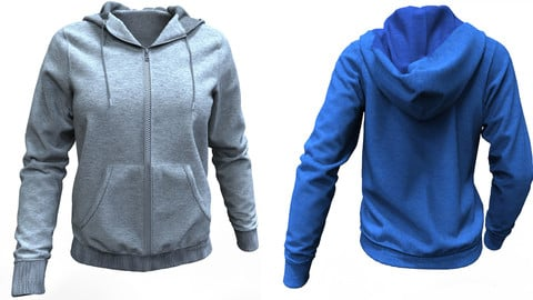 Marvelous Designer Hoodie (3D Dynamic Clothing Model)