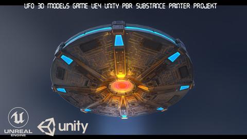 UFO 3d models Game UE4 Unity PBR Substance Painter Projekt