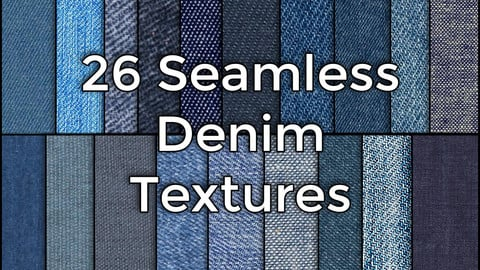 26 Realistic Seamless Denim Jeans Fabric Textures