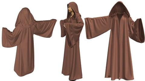 Dynamic Marvelous Designer Cloak Garment File (Jedi Style)