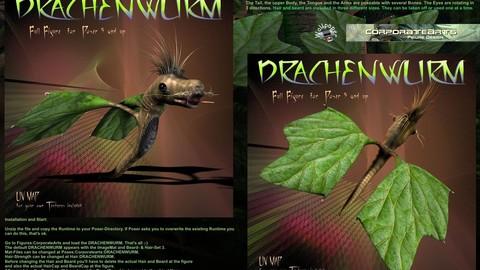 Drachenwurm (Poser, DAZ Studio rig)