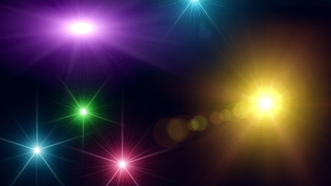 180 Hi-Res Lens Flares, Optical Flares, Sparkles, Stage Lights & Natural Lights PNGs