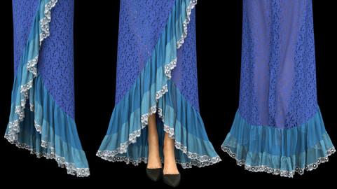 Fancy Marvelous Designer Skirt Template (Garment File + Pattern)