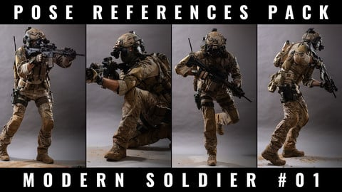 POSE REFERENCE PACK - MODERN SOLDIER #01