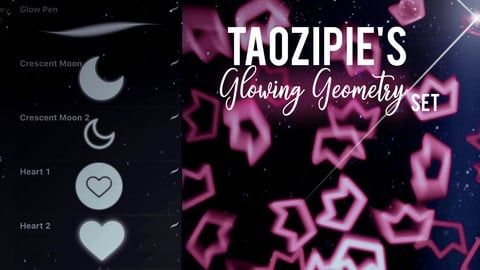 Taozipie's Glowing Geometry for Procreate
