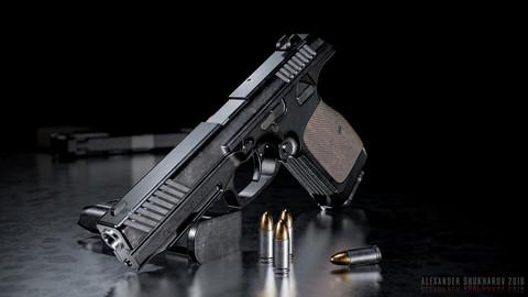 PL-14 - Lebedev Pistol - GameModel