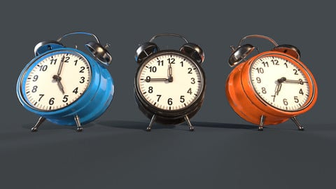 Alarm Clock Bedroom Clutter (PBR Game Ready)