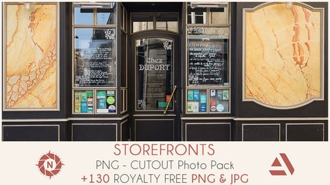 PNG Photo Pack: Storefronts