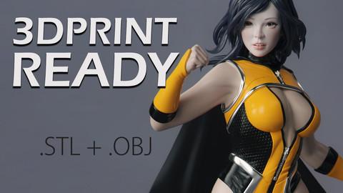 Female Superhero - 3DPrint Ready
