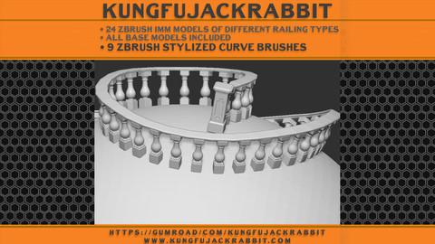 Zbrush Railings Set01