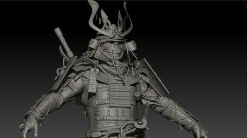 Samurai remastered Hi poly zbrush subtools