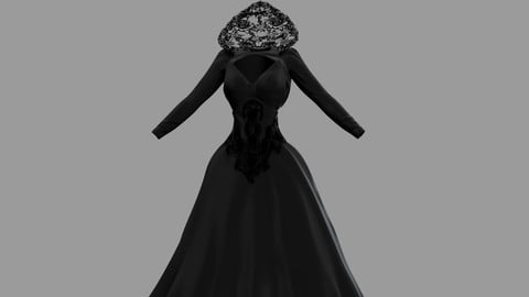 Victorian Gothic Dress V4