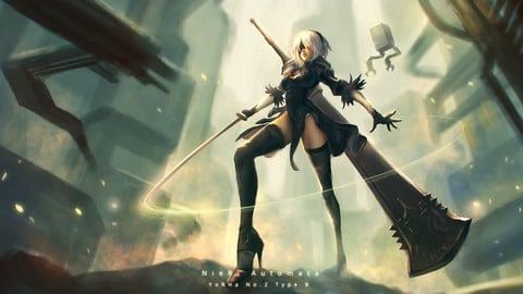 Nier Automata 2B - Video process and brushes