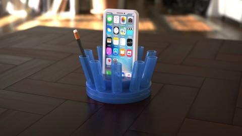 'Thorn' 3D printable Rotating Pen Holder