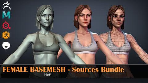 Female Basemesh - Source Bundle