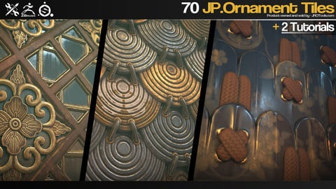 ZBrush/SP - 70 JP.Ornament Tiles