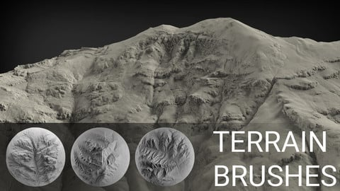 ZBrush - 100 Terrain Brushes
