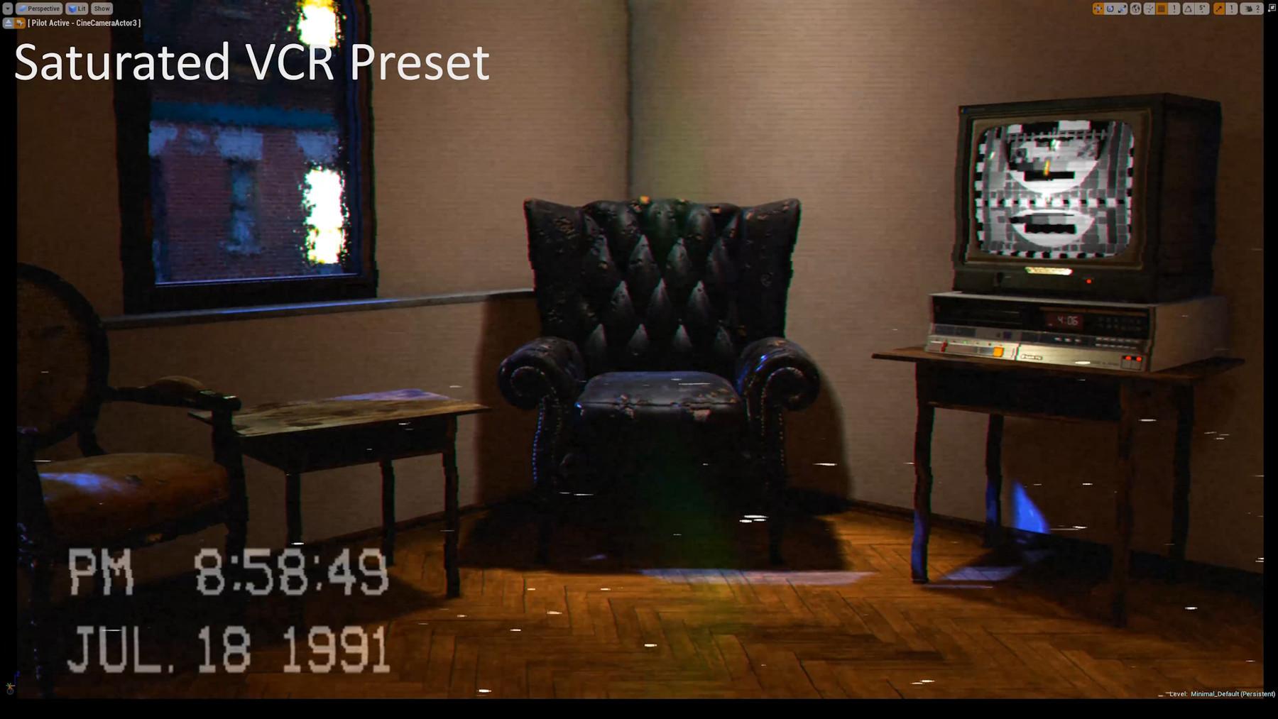 Cem Tezcan - Personal Portfolio - Unreal Engine - Animated CRT TV