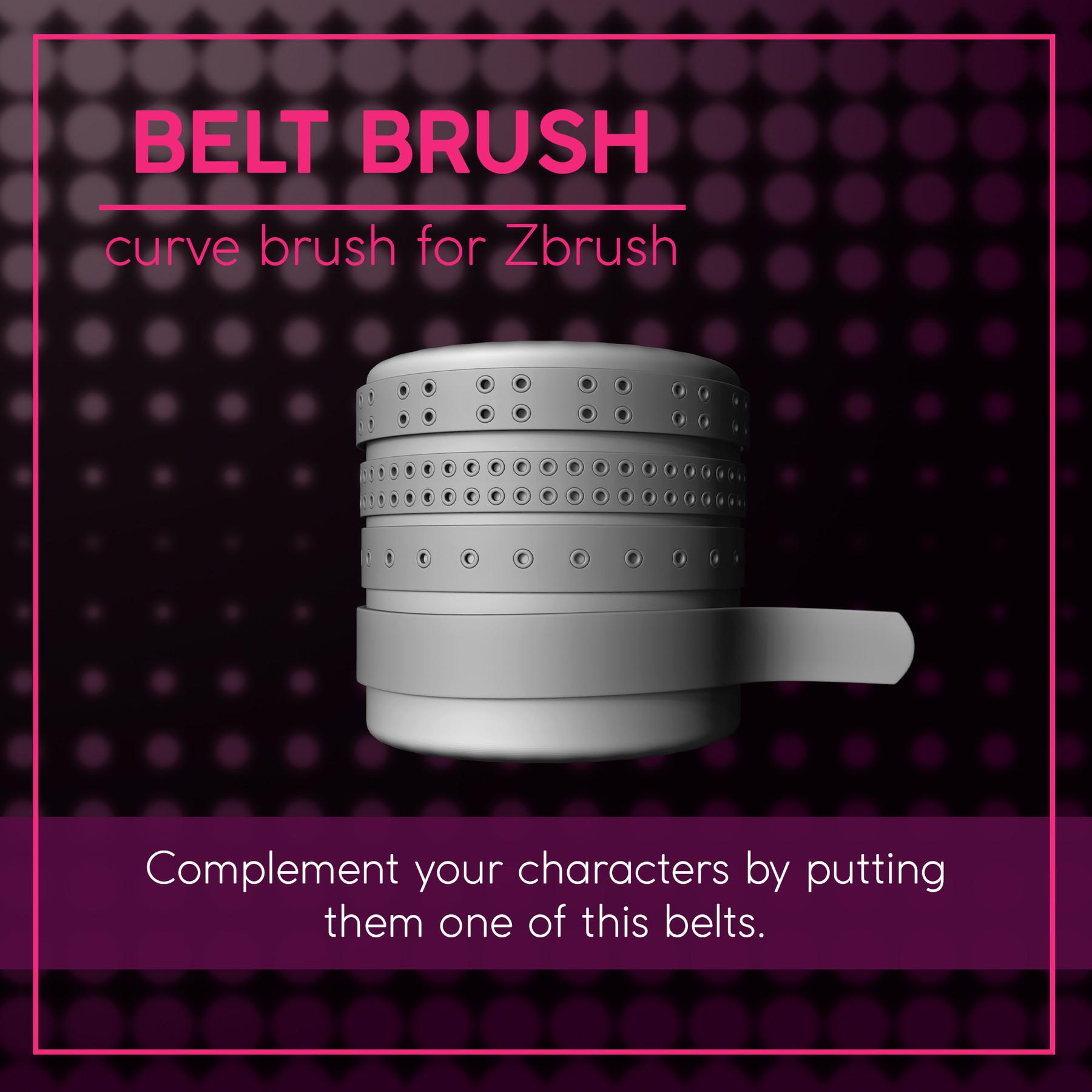 [IMM Brush] Basic Belt Curve Brush for Zbrush 2019 by Sergi Camprubí