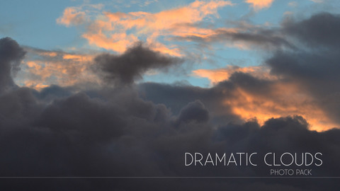 Dramatic Clouds - Photo Pack