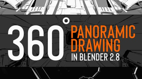 360 panoramic drawing in Blender 2.8