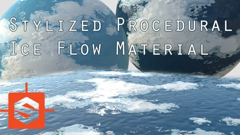 Stylized Animated Procedural Ice Flow Substance