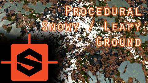 Stylized Procedural Snowy / Leafy Ground Substance