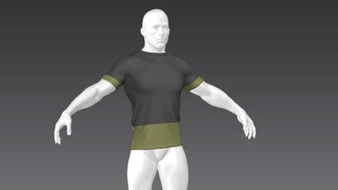 Clothes for Marvelous Designer: Rare T-Shirt