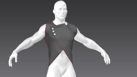 Clothes for Marvelous Designer: Vest for Man
