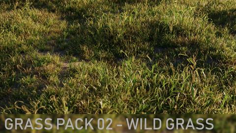 3D Grass Pack 02 - Wild Grass