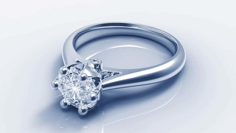 JEWELRY ENGAGEMENT RING STL FILE FOR DOWNLOAD AND PRINT- CC1 3D print model