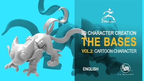 Pet Cartoon Modeling - Master 3D Character Creation Zbrush Vol.2
