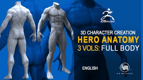 Hero Anatomy Vol. 4: The Body - 3D Course Character creation in Zbrush