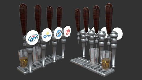Beer Tap Low Poly 3D Model