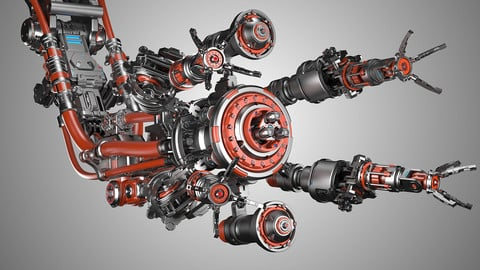 Assembly Robot Rigged 3D Model