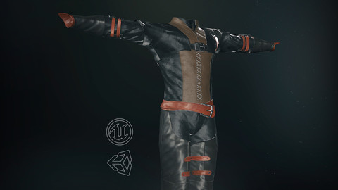 Male Medieval Outfit 1-3D Model