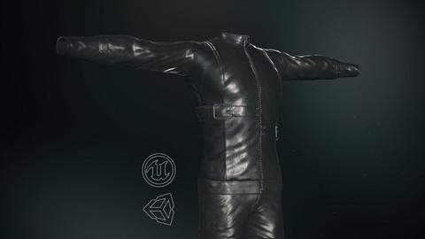 Male Biker Outfit -3D Model