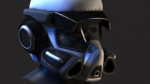 Scifi helmet model