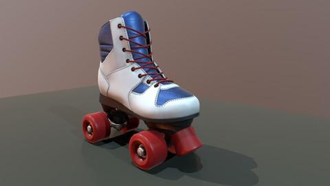 Retro roller skate - game model