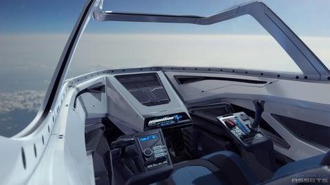 Sci Fi Cockpit Futuristic Fighter Low-poly 3D model
