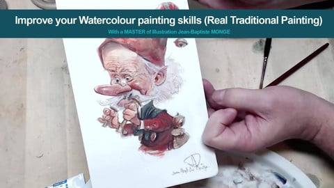 Improve your Water- colour painting skills (Real Traditional painting)